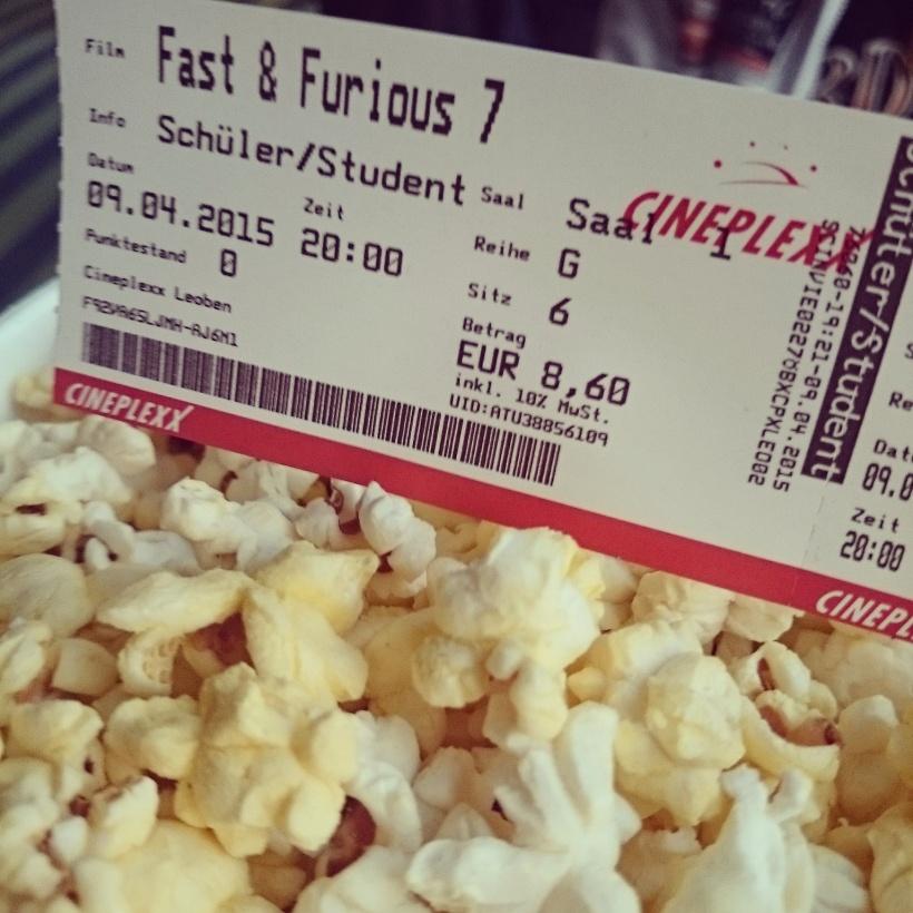 """Am Donnerstag ging es für uns ins Kino: Fast & Furious 7 - Ein Film mit """"dezenten"""" Übertreibungen und einem wunderbar traurigen Ende. For Paul."""