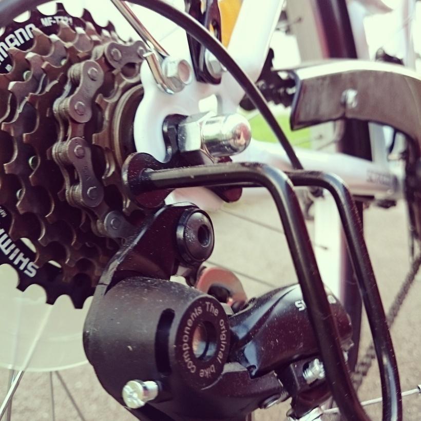 Diese Woche wurde mein Rad endlich richtig eingeweiht und wir sind so einige Male in die Stadt gedüst :)