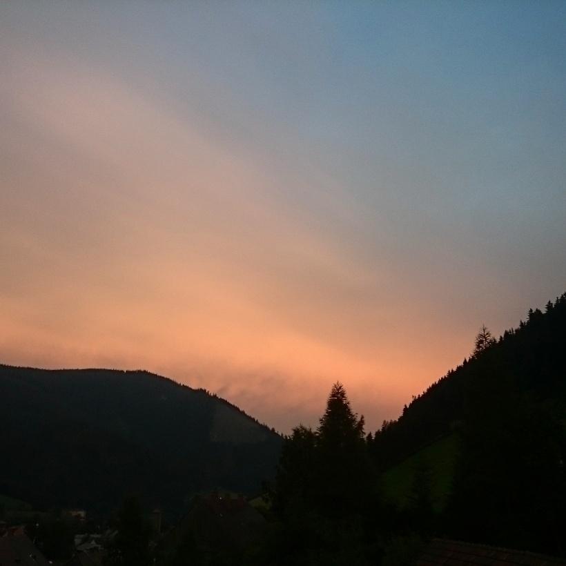 Sonnenunterang in Vordernberg :)