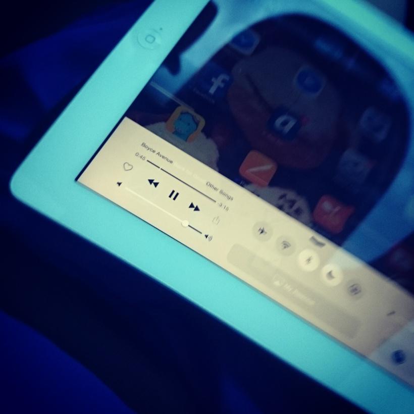 Bei der Fahrt Richtung Italien kommt seit Jahren mein iPad zum Einsatz, um Musik zu spielen :)