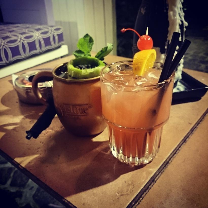Und wieder zwei Cocktails, diesmal hat Stefan die coole Tasse bekommen ^^ Stefan: Moskow Mule Ich: Sex on the Beach