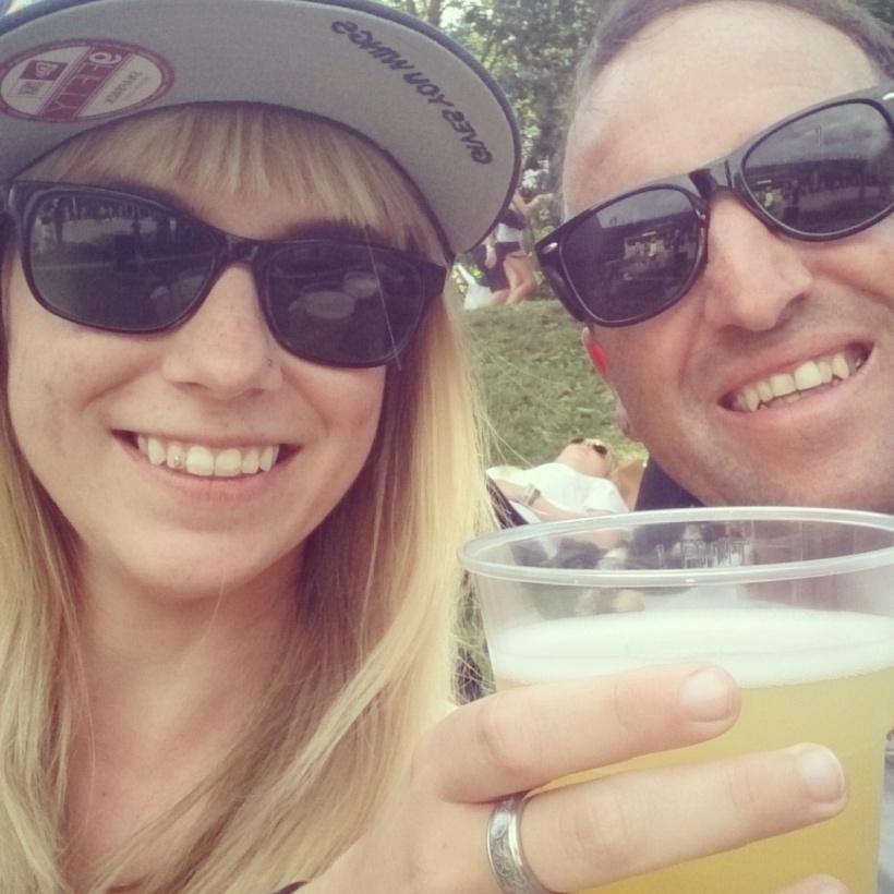 Papa und ich brauchten bei der Hitze unbedingt Radler und Bier: Prost!