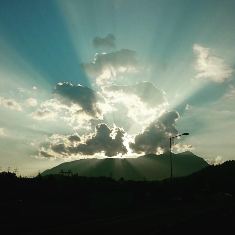 Am Heimweg ein wunderschöner Sonnenuntergang :)